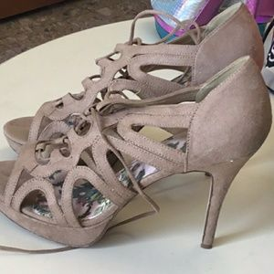 Strappy brown LimeLight heels